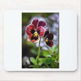 Bordeaux Pansy Flower Duo Mouse Pad