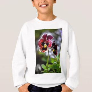 Bordeaux Pansy Flower Duo Sweatshirt