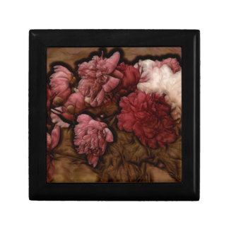 Bordeaux Peony Flower Bouquet Gift Box