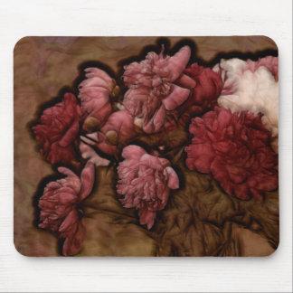 Bordeaux Peony Flower Bouquet Mouse Pad
