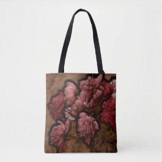 Bordeaux Peony Flower Bouquet Tote Bag