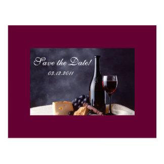 Bordeaux Save the Date Postcard