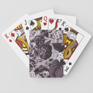Bordeaux Vintage Floral Toile Fabric No.1 Playing Cards