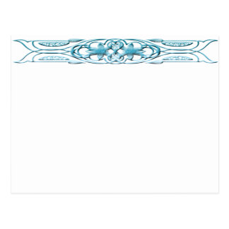 Border 1 blue postcard