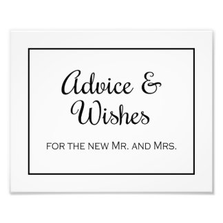 Border Advice and Wishes Wedding Print Photo Print