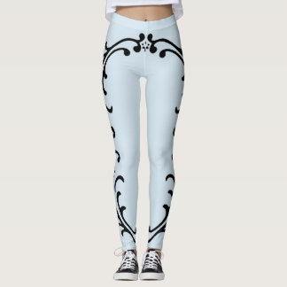 Border art deco leggings