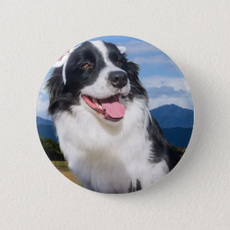 Border Collie 6 Cm Round Badge