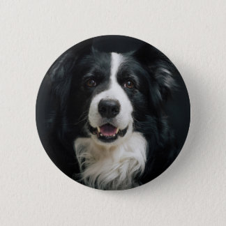 border-collie 6 cm round badge