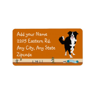 Border Collie - Agility Address Label