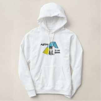 Border Collie Agility Game Embroidered Hoodie