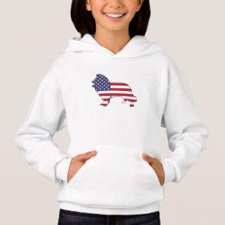 "Border collie - ""american flag"""