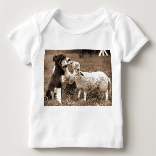 """Border Collie and Lamb""~Baby T-Shirt"