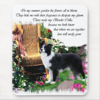 Border Collie Art Gifts Mouse Pad