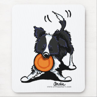 Border Collie at Play Mouse Pad