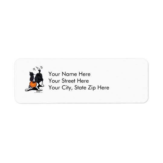Border Collie at Play Return Address Label