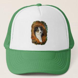 Border Collie Blue Merle Dog Portrait Photo - cap
