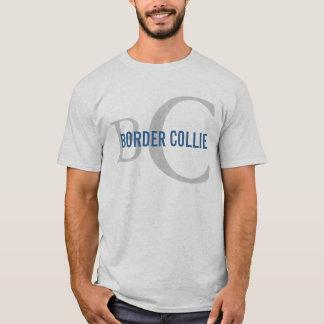 Border Collie Breed Monogram Design T-Shirt