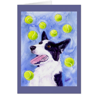 "Border Collie Card - ""Magpie's Gold"""