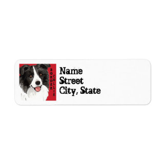 Border Collie Color Block Return Address Label