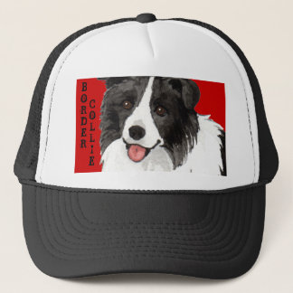 Border Collie Color Block Trucker Hat