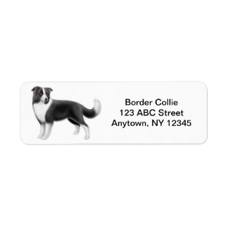 Border Collie Customizable Return Address Label