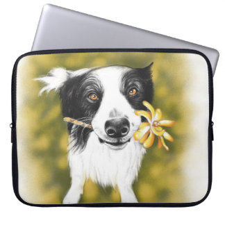 Border collie cutie laptop sleeve