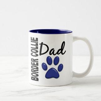 Border Collie Dad 2 Two-Tone Coffee Mug