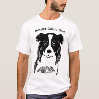 Border Collie Dad Men's T-Shirt