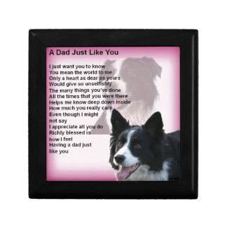 Border Collie Dog -  Dad Poem Gift Box