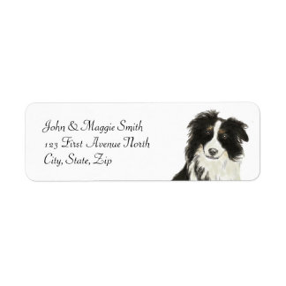 Border Collie Dog Pet Animal Custom Name Label Return Address Label