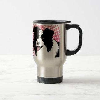 Border Collie Dog Pop Art Pet  Customize Stainless Steel Travel Mug