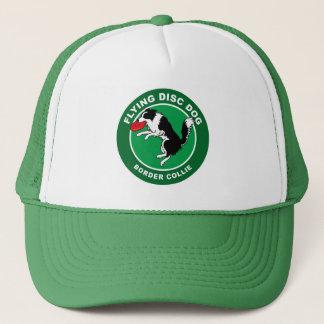 Border Collie Flying Disc Dog Trucker Hat