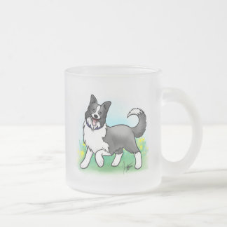 Border Collie Frosted Mug