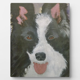 Border Collie gifts Photo Plaque