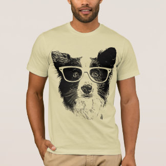 Border collie glasses to hipster Dog T-Shirt