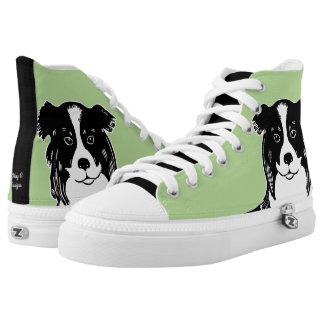 Border Collie Green and Black Shoes