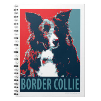 Border Collie Hope Parody Poster Note Books