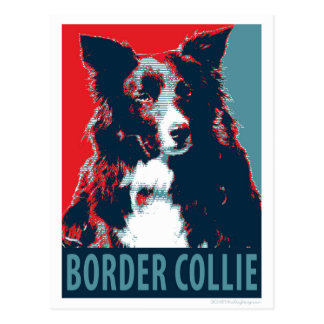 Border Collie Hope Parody Poster Postcard