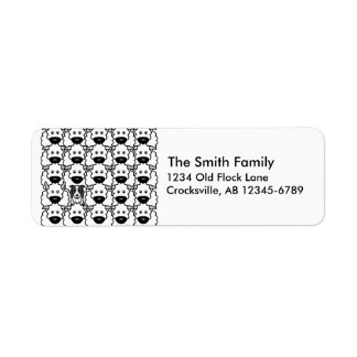 Border Collie in the Sheep Return Address Label