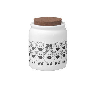 Border Collie in the Sheep Candy Jar