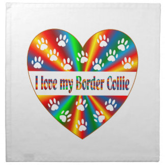 Border Collie Love Napkin