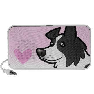 Border Collie Love Portable Speakers