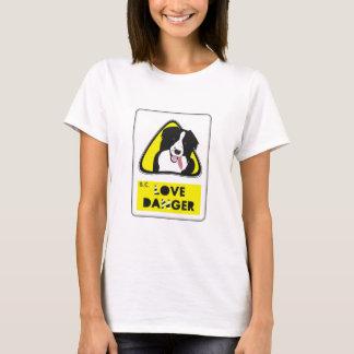 border collie love to danger shirt
