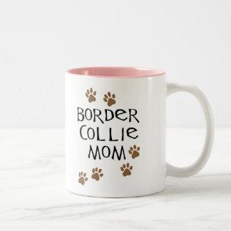 Border Collie Mom Two-Tone Coffee Mug