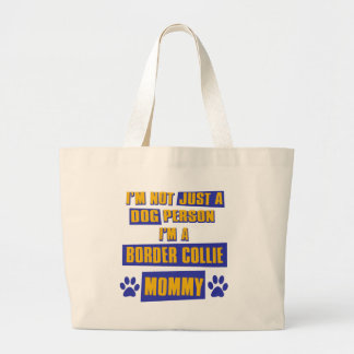 Border Collie Mommy Large Tote Bag