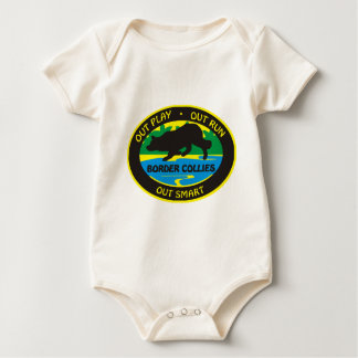 border collie out play baby bodysuit