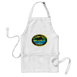 border collie out play standard apron