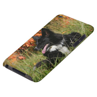 Border Collie Panting Laying Down iPod Touch Cover
