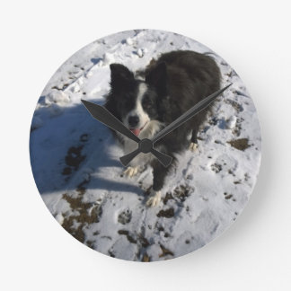 Border Collie photo on products Round Clock
