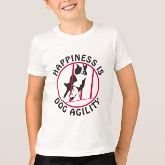 Border Collie Poles Agility Happiness T-Shirt